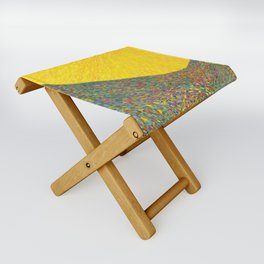 Here Comes the Sun - Van Gogh impressionist abstract Folding Stool