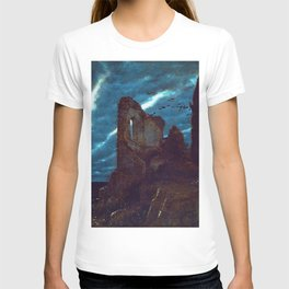 Twilight of the Abandoned Isles landscape painting by Arnold Bocklin T-shirt