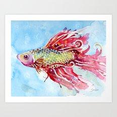 Fish Swim Art Print