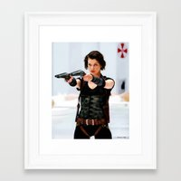 resident evil Framed Art Prints featuring Milla Jovovich @ Resident Evil by Gabriel T Toro