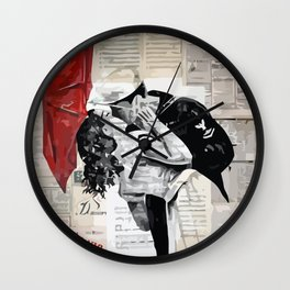 Famous kiss Wall Clock