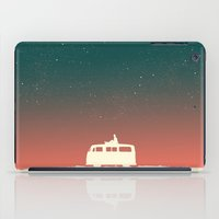 vw bus iPad Cases featuring Quiet Night - starry sky by Picomodi