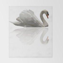 Geometric Swan Throw Blanket