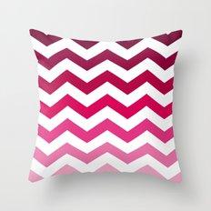 Pink Ombre Chevron Throw Pillow