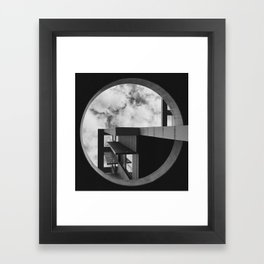 Abstract Apartment Building in San Francisco Framed Art Print