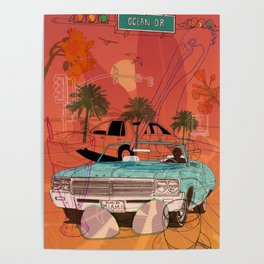 Miami Vibes Poster