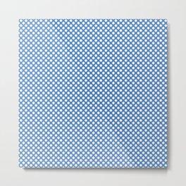 Marina and White Polka Dots Metal Print