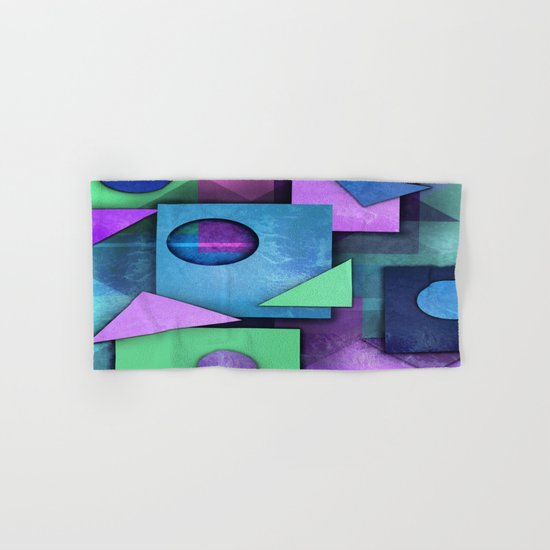 Geometric  Chaos Hand & Bath Towel