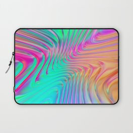 Abstract Colorful Waves Laptop Sleeve
