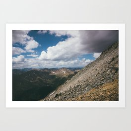 Ascending Mt. Massive Art Print