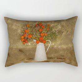Chinese Lanterns and Vintage Jug Rectangular Pillow