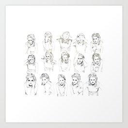 Kristen Stewart Sketches Art Print
