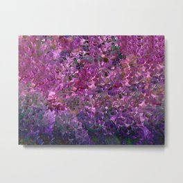 Floral Fantasy Spring Abstract Metal Print
