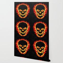 Flame Skull Wallpaper