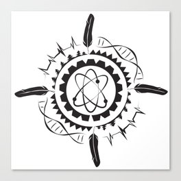 Native Stem Mandala Canvas Print