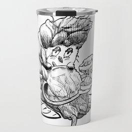 Grindin' Marijuana Weed art illustration Travel Mug