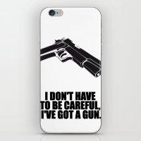 gun iPhone & iPod Skins featuring gun by muffa