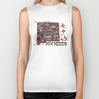 mexico Biker Tanks featuring New Mexico by Christiane Engel