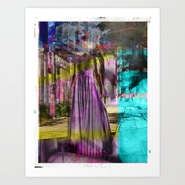 Alone In The Streets Art Print