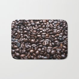 Roasted Coffee beans pattern Bath Mat