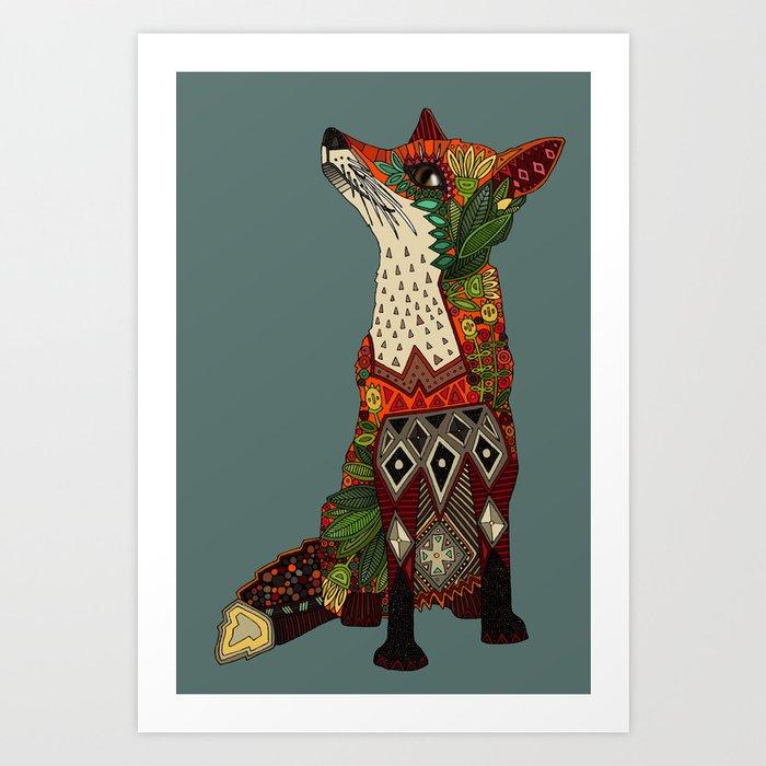 fox love Kunstdrucke