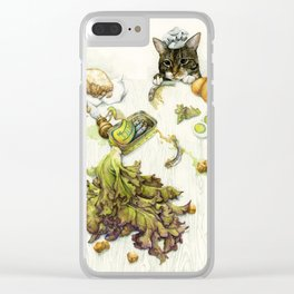 Caesar Salad Clear iPhone Case