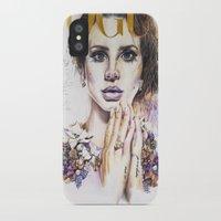lana iPhone & iPod Cases featuring Lana by Kim Maria Morrow