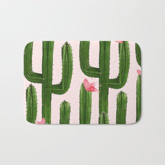Happy Cacti #society6 #decor #buyart Bath Mat