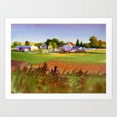 A Kansas Farm Art Print