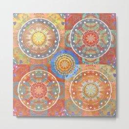 Healing Color Therapy Orange Ombre Glow Boho Print Metal Print