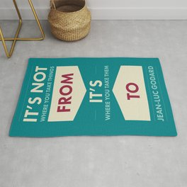 Godard (The quotes series) Rug