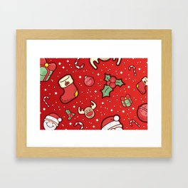 Christmas Icons Pattern / Part Two Framed Art Print