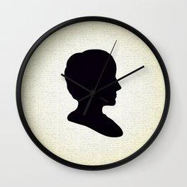 Ada Lovelace Silhouette  Wall Clock