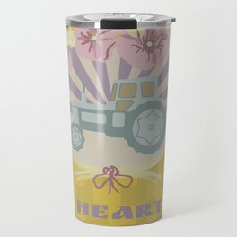 I Heart Tractors - mustard Travel Mug