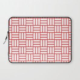 Basketweave (Red & White Pattern) Laptop Sleeve