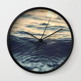 Venice Beach, palm trees, vintage, oceanside,California Wall Clock