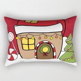 Hand Drawn Christmas fairy gingerbread winter wonderland Rectangular Pillow