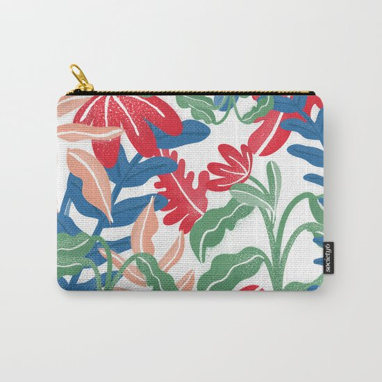 Tropical Vibes Pattern Carry-All Pouch