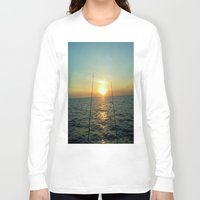 fishing Long Sleeve T-shirts featuring FISHING by aztosaha