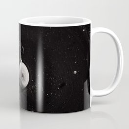 Contrast macro abstraction of bubbles in water. Space macro photo.  Coffee Mug