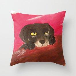 Jake, the Baby Labrador Throw Pillow
