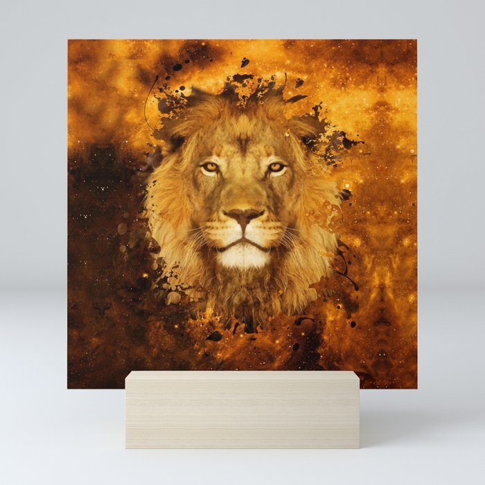 Cool Lion Mini Art Print