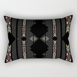 Southwestern Black Diamond Stripe Patterns Rectangular Pillow