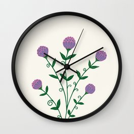 Medieval Vintage Golden Flowers in Antique Book Wall Clock