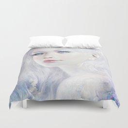 Snow white hair ice girl Duvet Cover