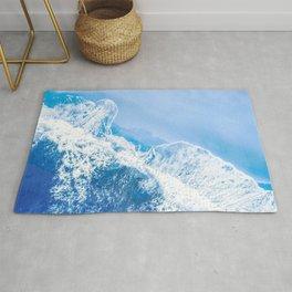 Little Blue Waves | Aerial Beach Rug