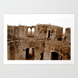 Castle Walls Art Print
