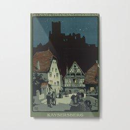 Kayserberg Vintage Travel Poster Metal Print