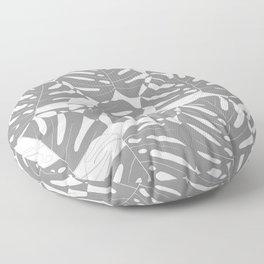 Monstera deliciosa Minimalistic black and white Floor Pillow