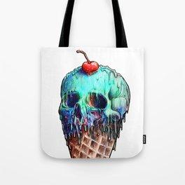 Ice Cream Skull Tote Bag
